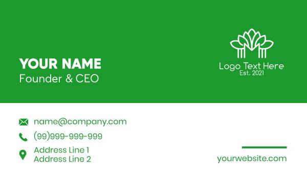 symmetric - Minimalist Plant Letter M Business card horizontal design