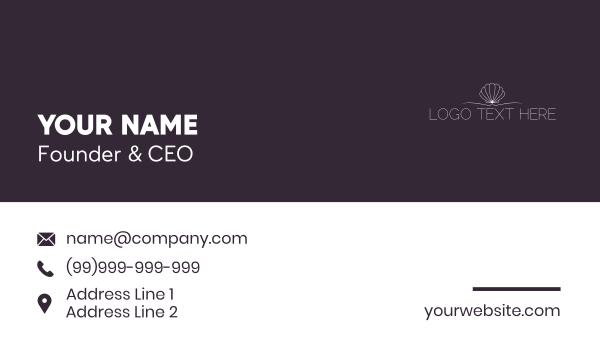 marine biology - Shell Minimalist Wordmark Business card horizontal design