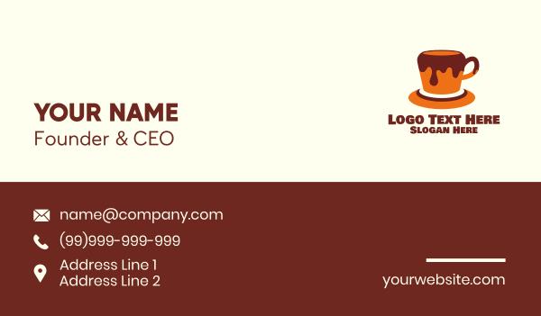 stand - Honey Chocolate Coffee Business card horizontal design