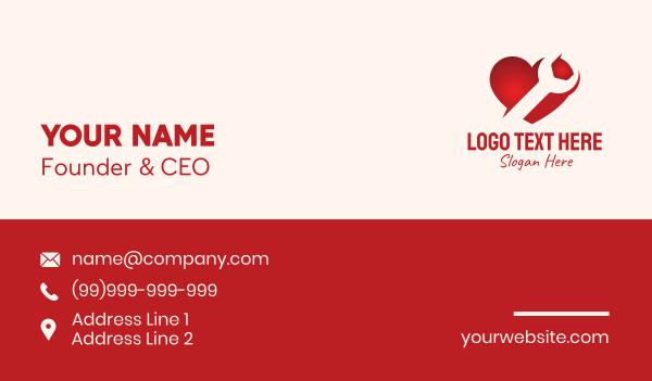passion - Red Heart Repair Business card horizontal design