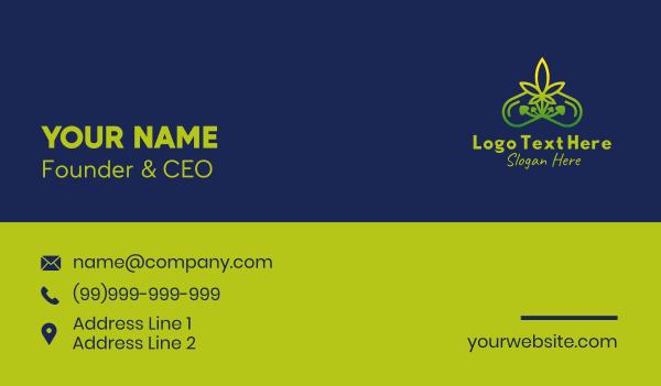 cannabidiol - Mushroom Weed Capsule Business card horizontal design