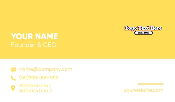 text logo - School Varsity Wordmark Business card horizontal design