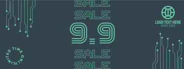 9.9 Special Sale Badge Facebook cover