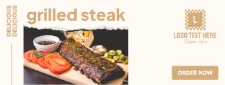 Grilled Steak Facebook cover