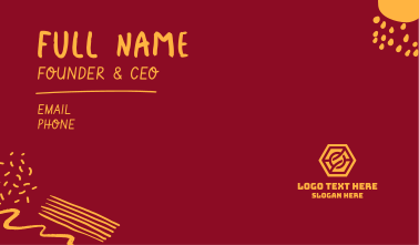 Sketchy Brush Business Card