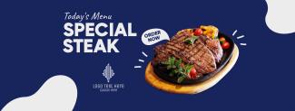 Todays Menu Steak Facebook cover