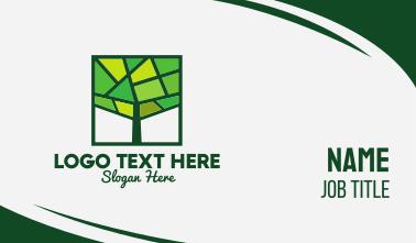 Mosaic Green Tree Business Card