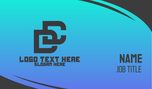 dc - Modern DC Monogram Business card horizontal design