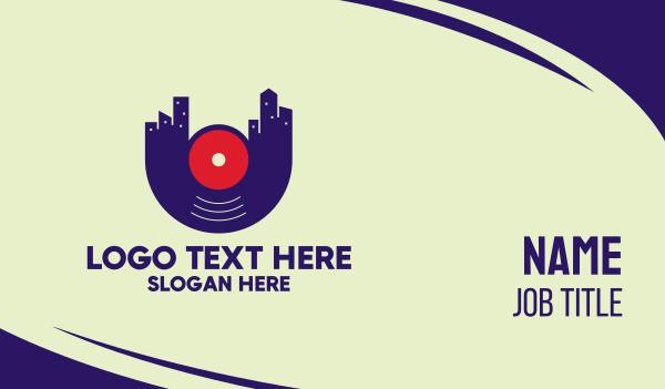 lecture - City Vinyl Sound Business card horizontal design