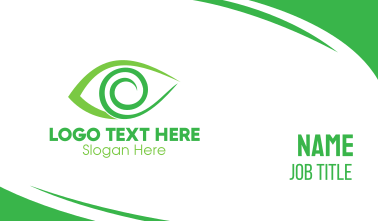 Green Spiral Eye Business Card