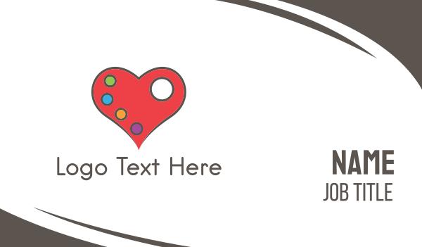 date - Love Palette Business card horizontal design