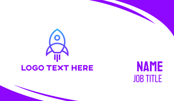 rocket - Rocket Launch Business card horizontal design