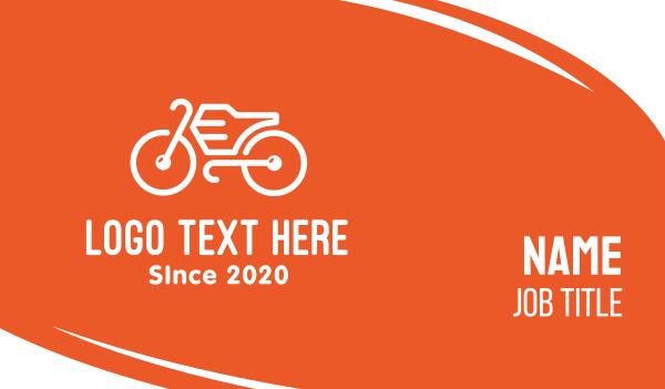 bike parts - Modern Orange Bike Business card horizontal design