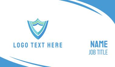 Blue Green Shield Business Card