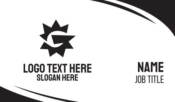 spike - Black Serrated G Business card horizontal design