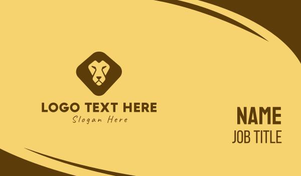 safari park - Lion Face Business card horizontal design