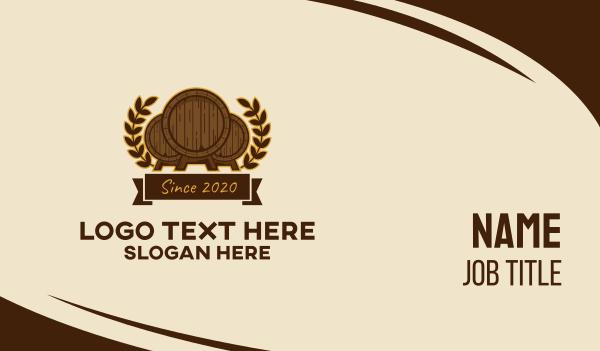 drinks - Wheat Beer Barrels Business card horizontal design