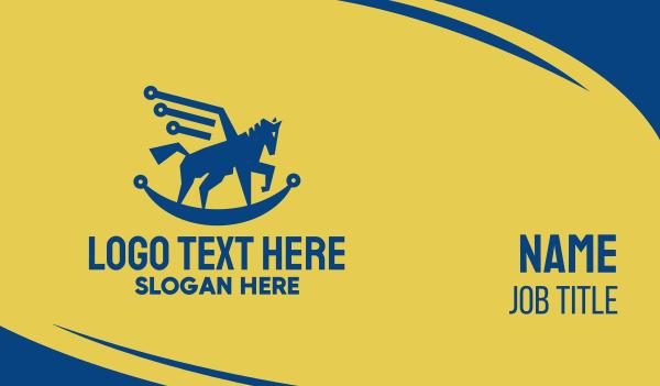 stallion - Pegasus Technology Business card horizontal design