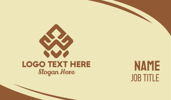 tribal - Brown Tribal Pattern Business card horizontal design