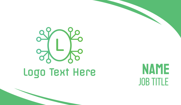 cryptocurrency - Green Tech Frog Business card horizontal design