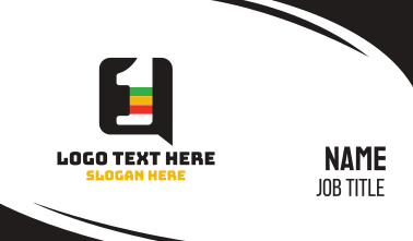 Reggae Chat Number 1 Business Card