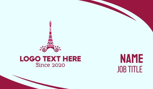 europe - Cake Tower Business card horizontal design