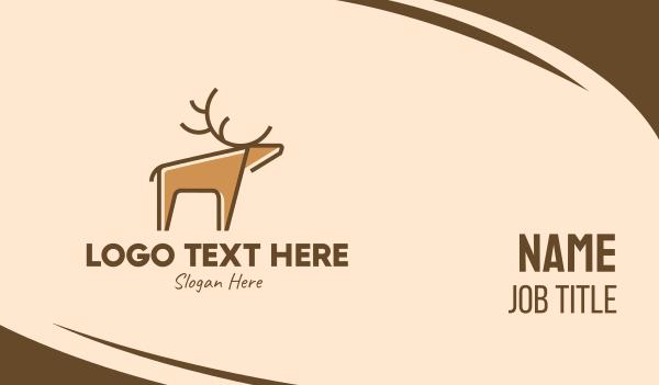 antlers - Wild Deer Business card horizontal design