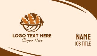 Baguette Bread Basket Business Card