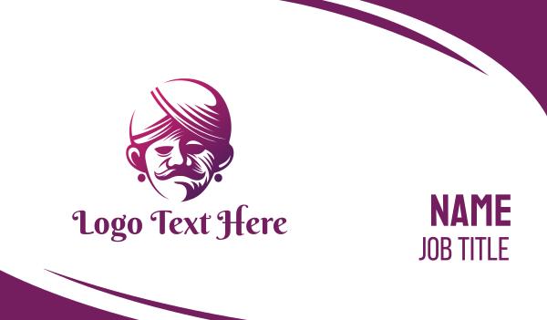 muslim - Purple Sultan  Business card horizontal design
