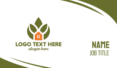 Green Plant House Business Card