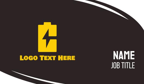endurance - Battery Charger Business card horizontal design
