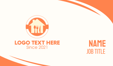 Orange Home Cooking Business Card