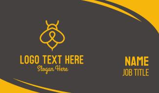 Yellow Monoline Bee  Business Card