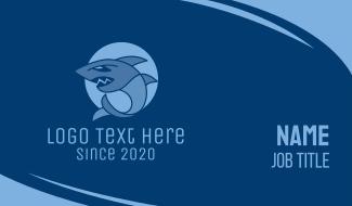 Blue Wild Shark Business Card