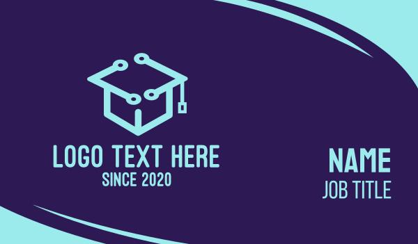 graduation - Digital Tech Toga Business card horizontal design