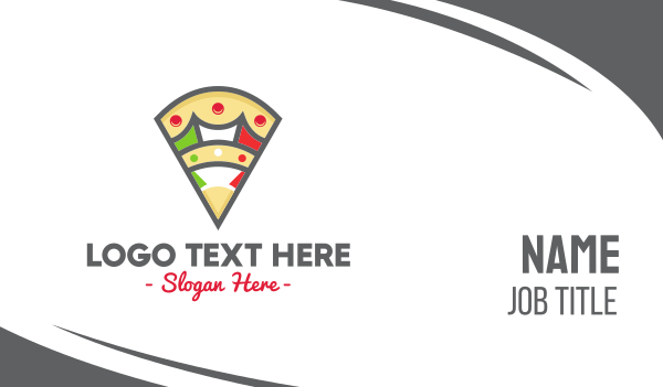 mozzarella - Italian Pizza Pizzeria Business card horizontal design