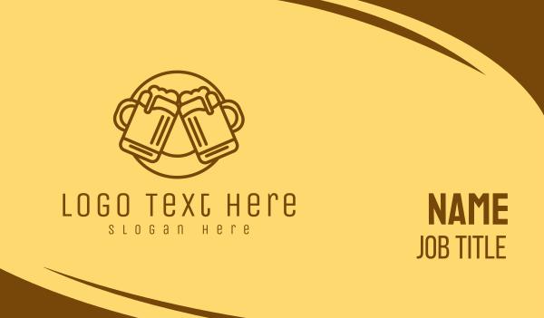 cheers - Beer Mug Cheers  Business card horizontal design