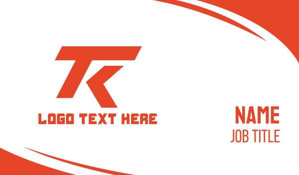 racing - Automotive T & K Business card horizontal design
