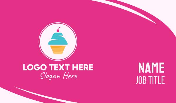 cupcake shop - Cupcake Shop Letter S Business card horizontal design