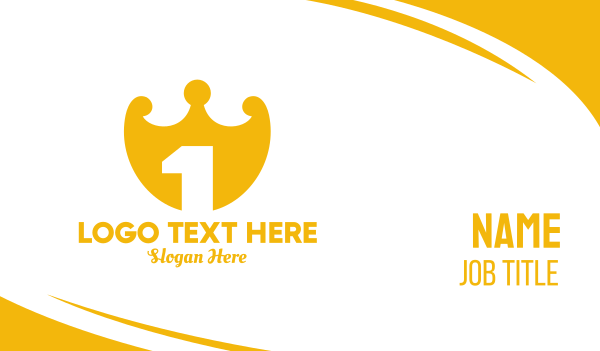 treasure - Crown Shield Number 1 Business card horizontal design