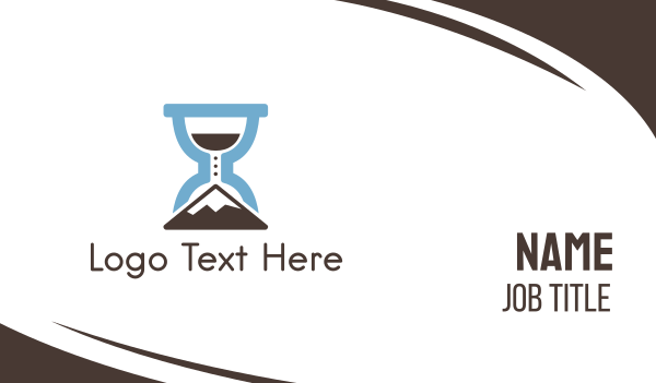 minute - Climbing Time  Business card horizontal design