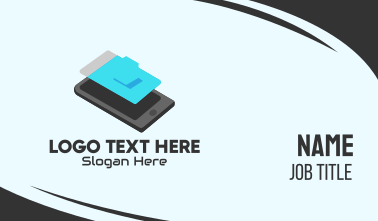 Isometric Mobile Phone Business Card