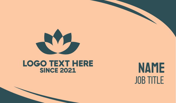 lotus - Lotus Yoga Flower Business card horizontal design