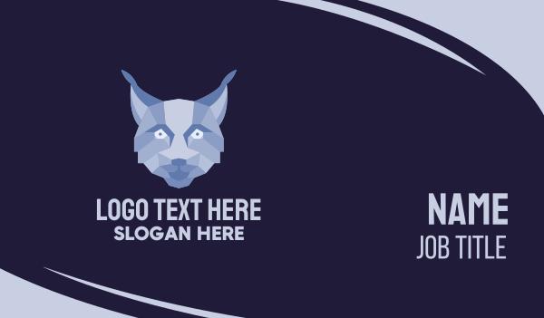 wildcat - Geometric Fox Face  Business card horizontal design