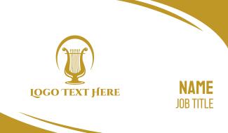 Elegant Harp Arch Business Card