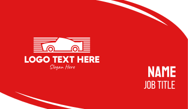 Red & White Automotive Car Business Card