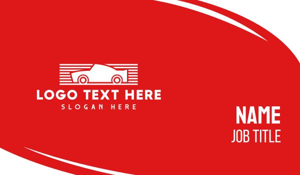 supercar - Red & White Automotive Car Business card horizontal design