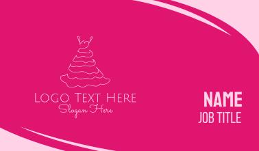 Pink Dress Business Card