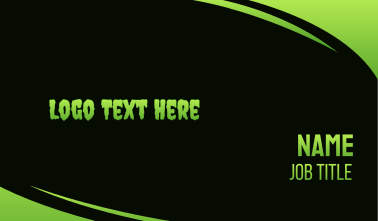 Green & Slimy Business Card