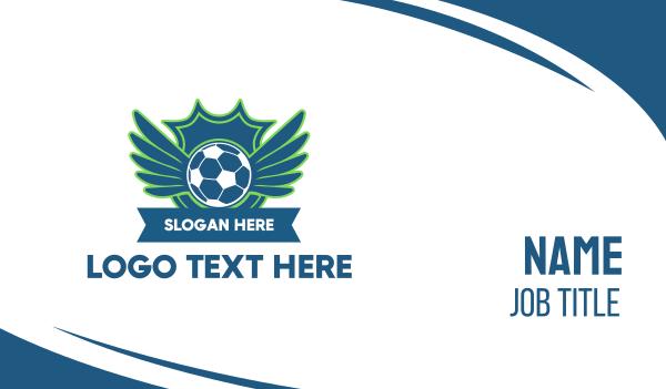 sporting event - Soccer FC Club Business card horizontal design